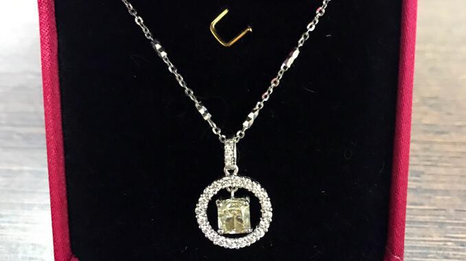 天然鑽石項鍊 1.01ct-4