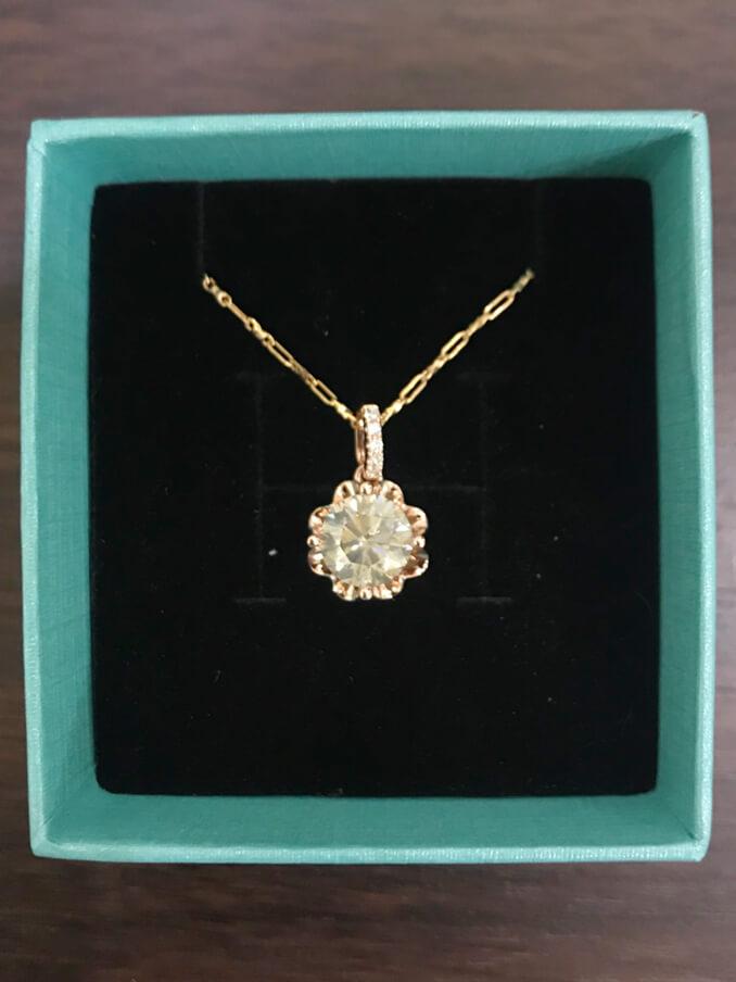 天然鑽石玫瑰金項鍊 2.02ct-1