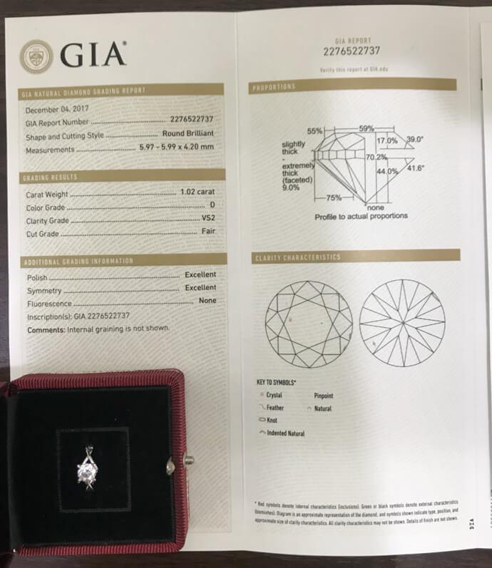 GIA天然鑽石戒指 1.02ct-1