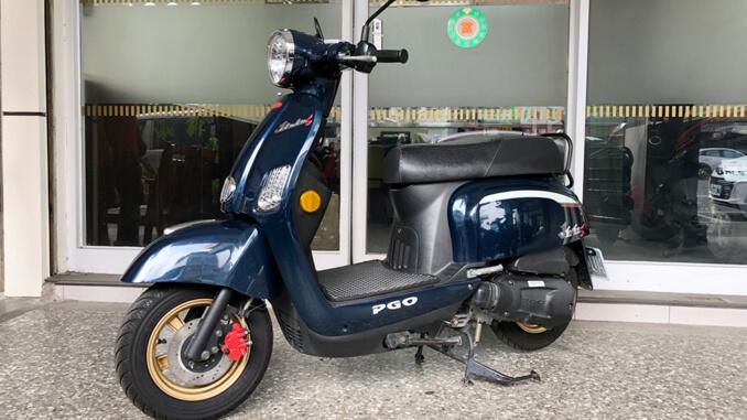 流當機車-摩特動力PGO J-BUBU 125石青藍-1