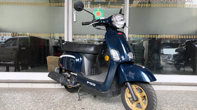 流當機車-摩特動力PGO J-BUBU 125石青藍-3